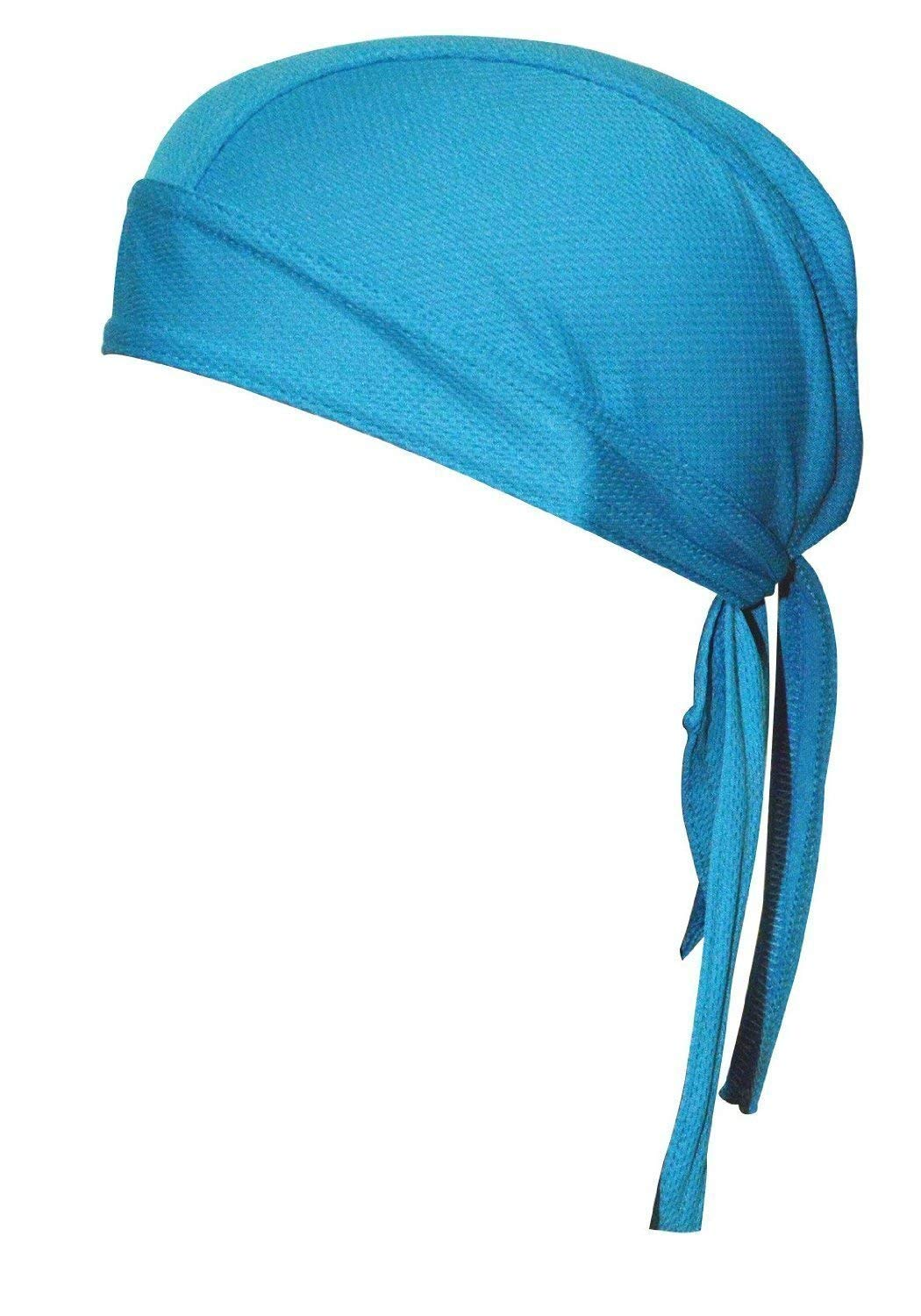 QING Sweat Wicking Beanie Cap Hat Chemo Cap Skull Cap for Men and Women (Sky Blue 1 Pack) by QING