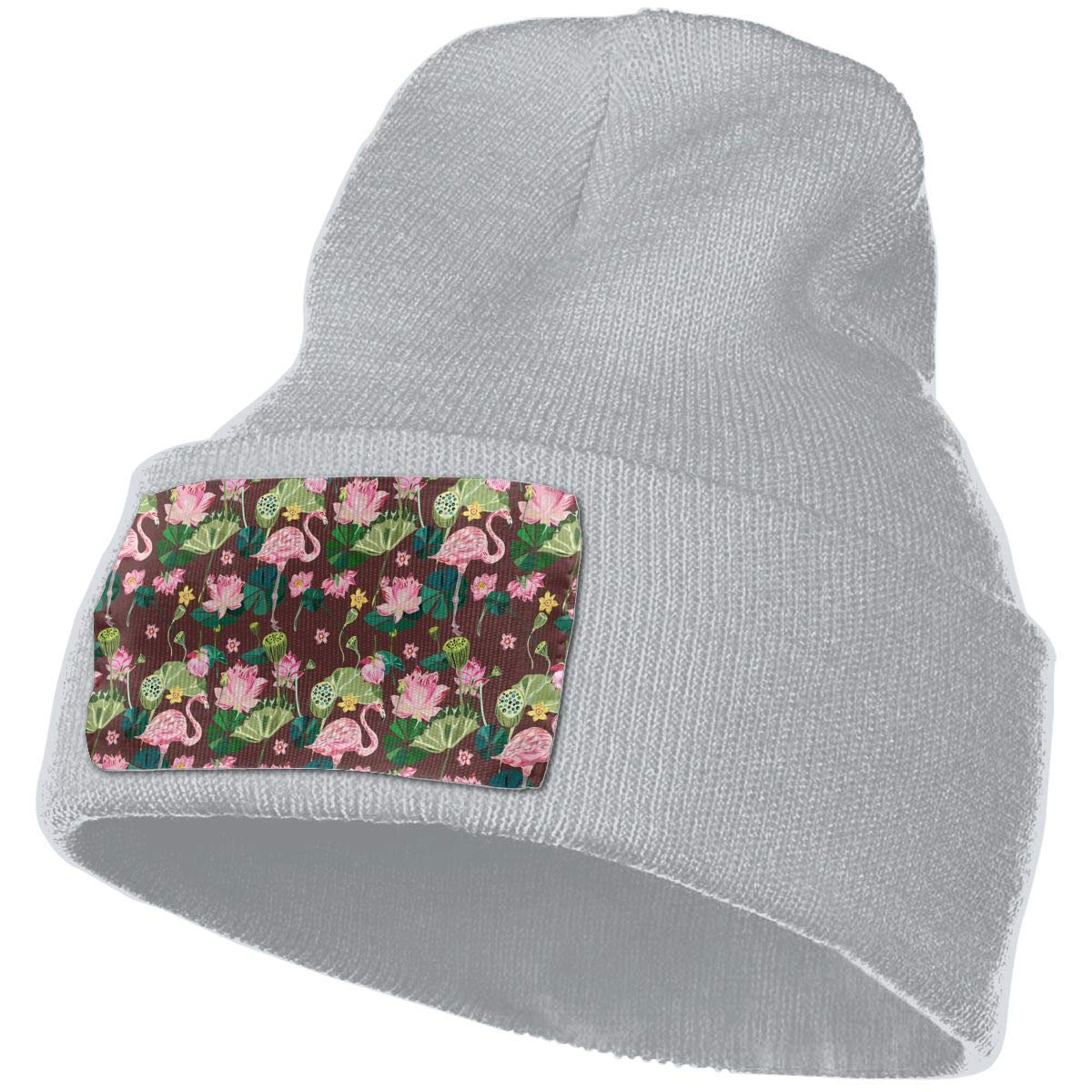 Tropical Seamless Flamingos Unisex Fashion Knitted Hat Luxury Hip-Hop Cap