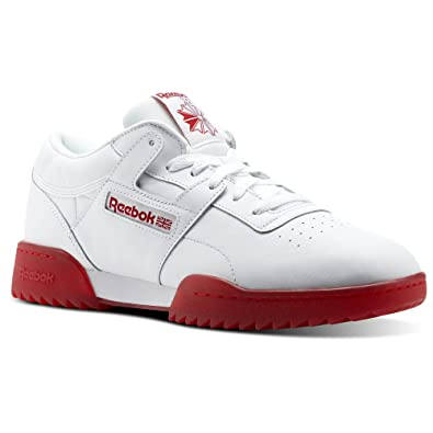 Reebok Men s Workout Clean Ripple Ice Cross Trainer White Primal red a48a72dac