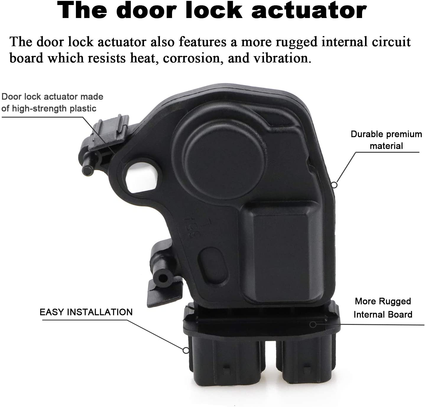 Door Lock Actuator Motor Front Left for 2003 2004 2005 Honda Accord Civic CR-V Element Odyssey Pilot 2002-2006 Acura RSX Replaces 72155-S5P-A11 72155S5PA11