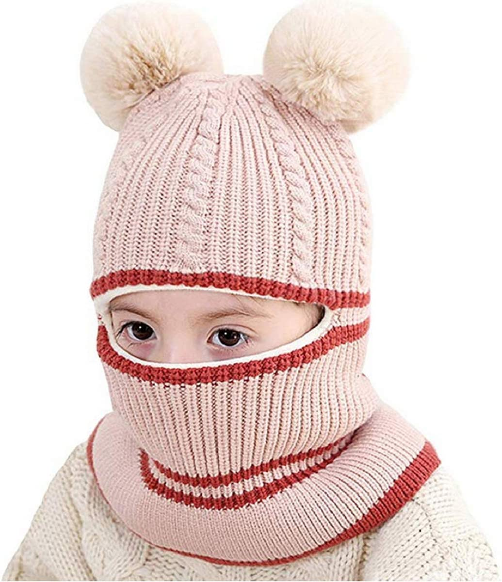 Xingny Baby Winter Scarf Hat Warm Earflap Cap for Kids Winter Hat Windproof Warm Fleece Lined Earflap Hat for Kids Boys Girls