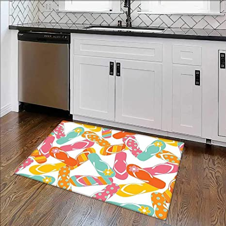 b43da6cb732911 Image Unavailable. Image not available for. Color  Home Décor Rug Bunch Flip  Flops ...