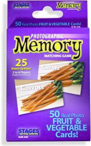 Stages Learning Materials Picture Memory Fruits & Vegetables Card Game Memory Game