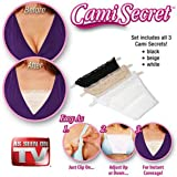 Cami Secret Clip On Mock Camisoles (3 Pack) White Black Beige