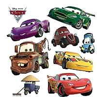 AG Design Disney Cars Kinderkamermuursticker, PVC-folie (ftalaat-vrij), meerkleurig, 30 x 30 cm