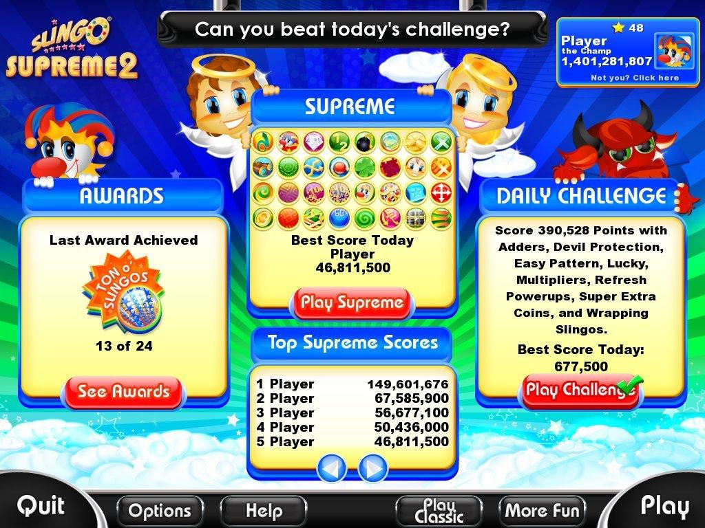 Slingo supreme 2 game casino in san jose with slot machines