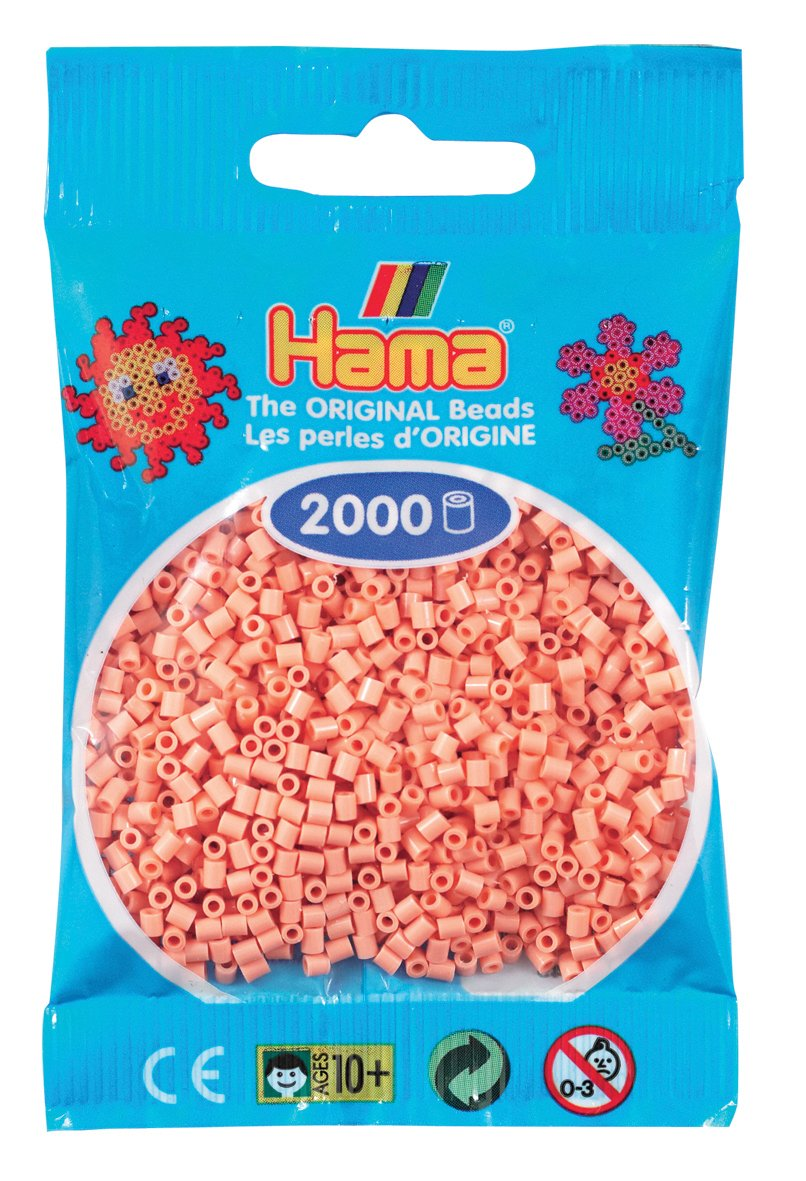 Cuentas Mini 2000 Pieza ne/ón Verde Desconocido Hama Perlen 501-37 Importado de Alemania