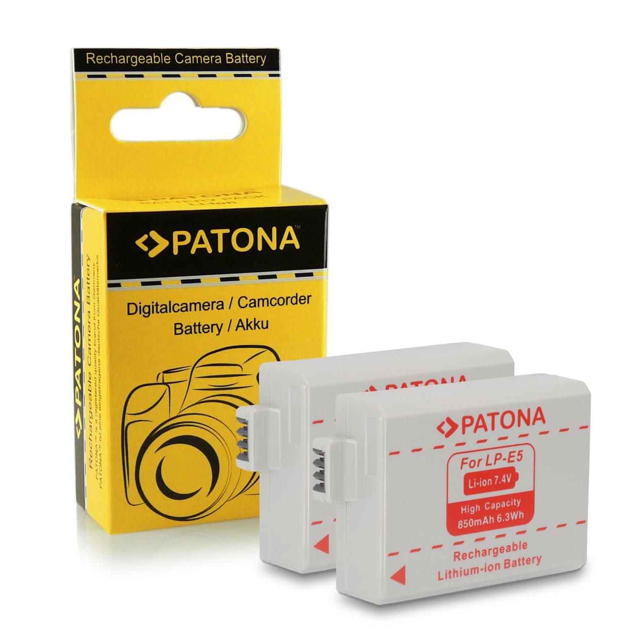 2x Bateria LP-E5 para Canon EOS 1000D | EOS 450D | EOS 500D | EOS Rebel T1i |...