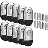 SanJie Door Window Alarm 10 Pack Wireless Home Security Magnetic Sensor 120DB Loudly Alert System for Home Business Door…