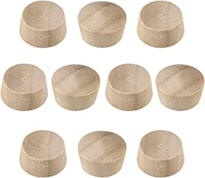 uxcell Wood Button Top Plugs 9/16 Inch Cherry Hardwood Furniture Plugs 9/25 Inch Height 200 Pcs