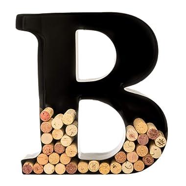 Wine Cork Holder - Metal Monogram Letter (B)