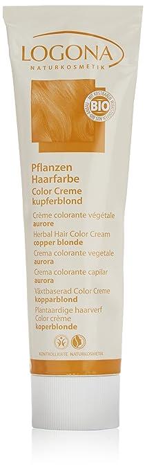 logona herbal hair color cream copper blonde 507 ounce - Logona Color Creme