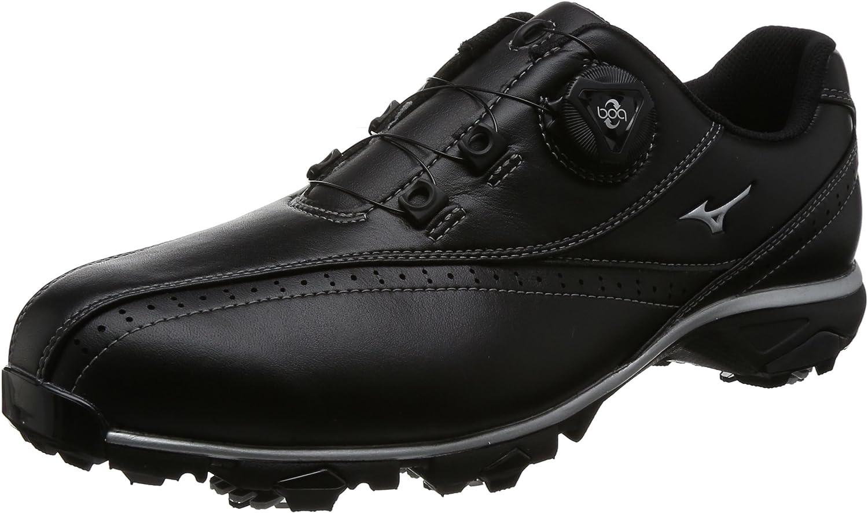 [ミズノゴルフ] ゴルフシューズ ワイドスタイル002 ボア メンズ ブラック 26.5 cm 4E