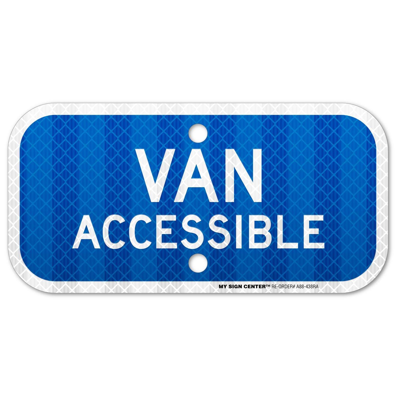 Van accesible laminado - Señal de aparcamiento en zona de ...