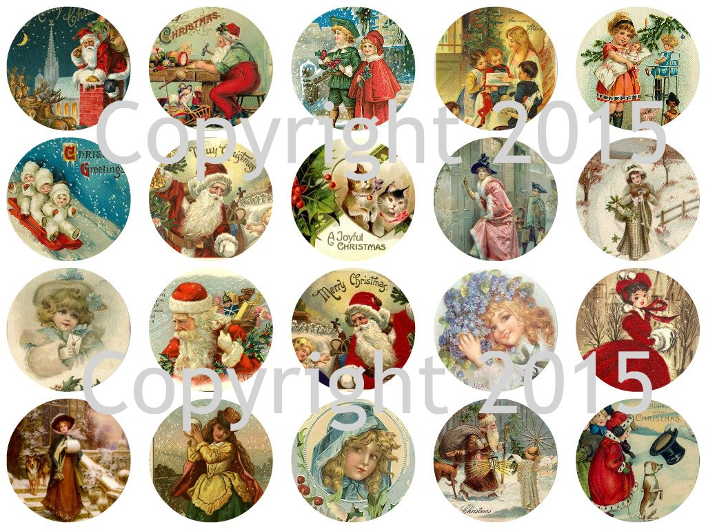 Assorted Vintage Christmas 1 3/4