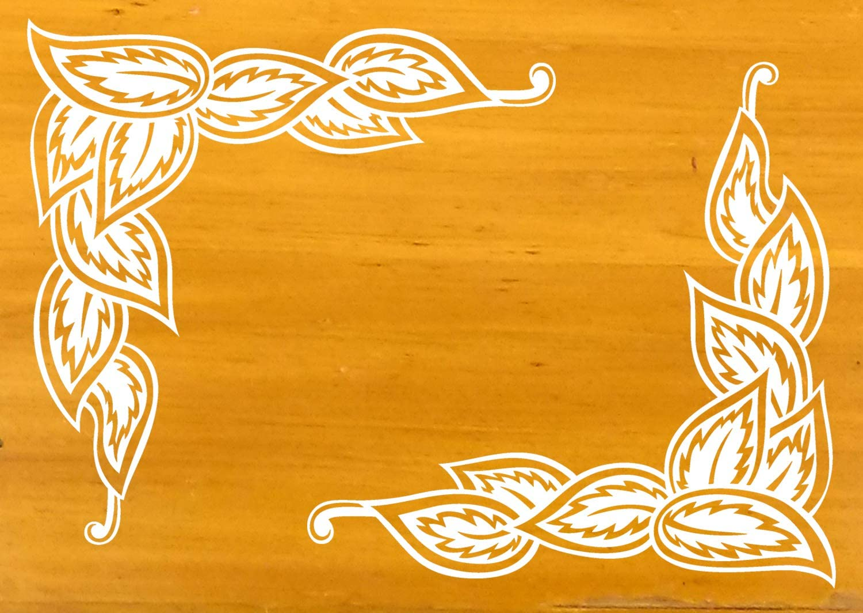 Kitchen Furniture Decorative Stickers # Floral Coleus Plant Leaves Corner Vintage Pattern # Corners Cupboard Windows Doors Wall Moulding Vinyl Decals