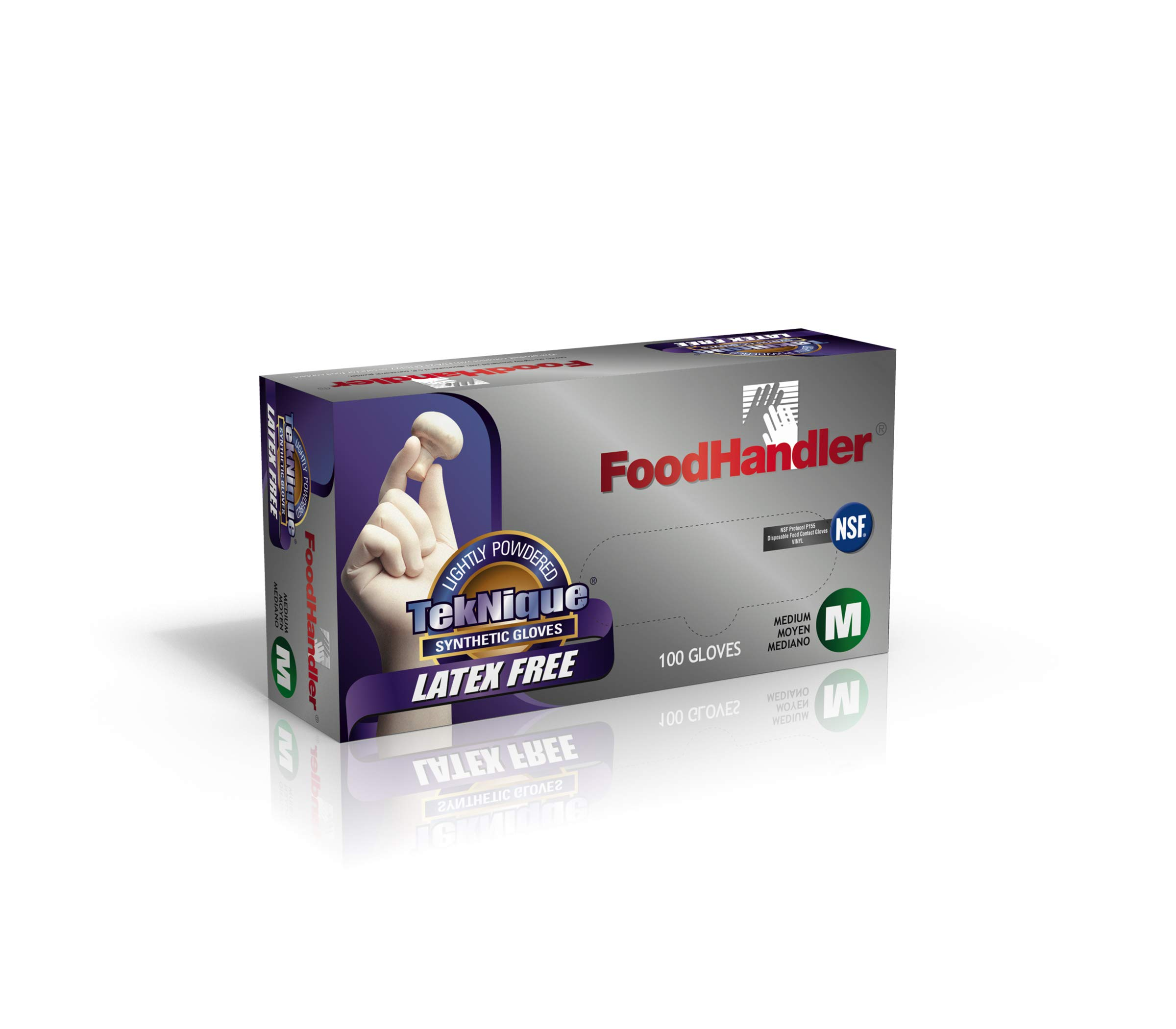 FoodHandler 103-TNQ4 FoodHandler TekNique Synthetic Vinyl MD Natural (Pack of 400)