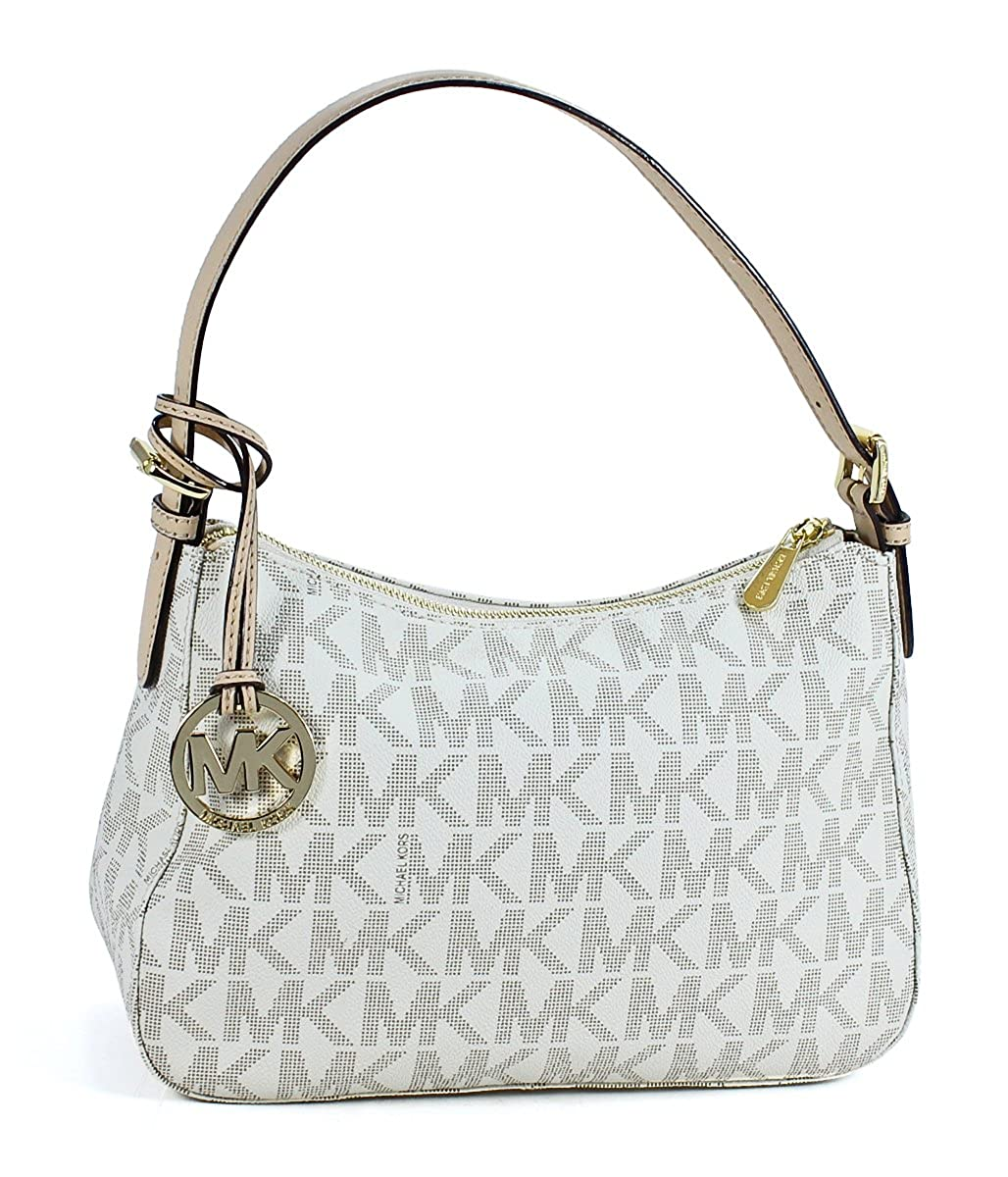 Michael Kors Jet Set Signature Small Shoulder Bag - Vanilla ...