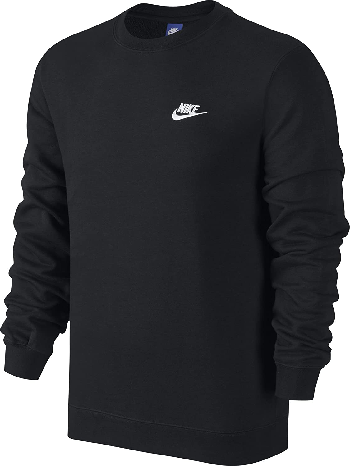TALLA L. Nike M NSW CRW Ft Club Camiseta de Manga Larga, Hombre
