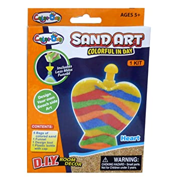 D.I.Y Room Decor PMS Color Day Glow in the Dark Colourful Sand Art Kit