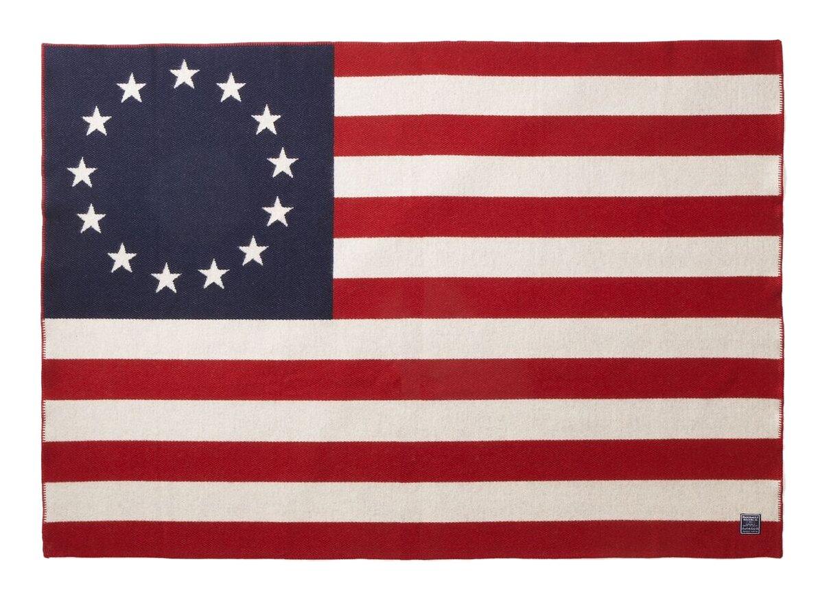 Faribault Woolen Mill Betsy Ross Flag Throw、マルチ B01KVXYIUS