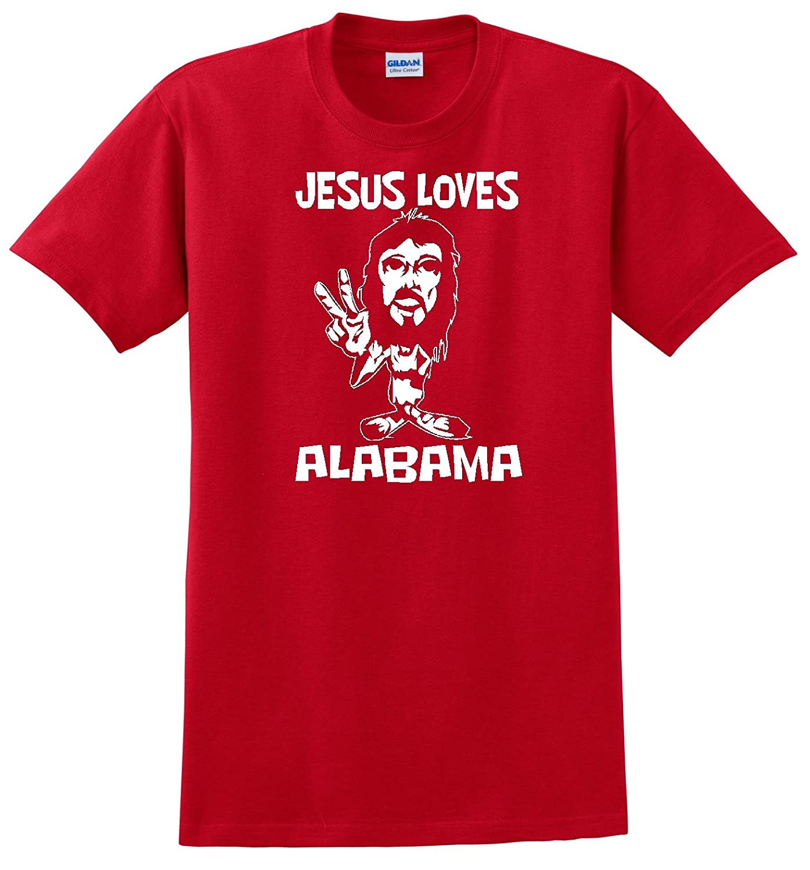 "ALABAMA ""JESUS LOVES"" RED T SHIRT"