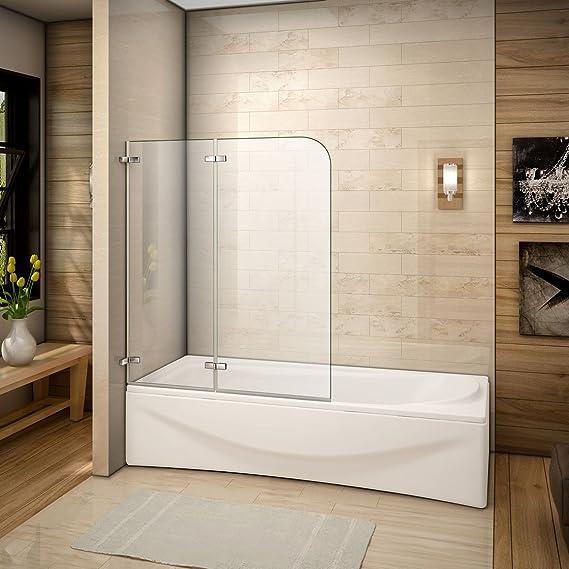 120x140cm Mamparas/pantalla para bañera biombo baño plegable de Aica: Amazon.es: Bricolaje y herramientas