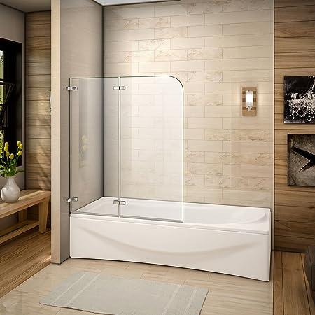 100x140cm Mamparas/pantalla para bañera biombo baño plegable de ...