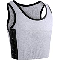 XUJI Women Tomboy Trans Elastic Chest Binder Breathable Cotton Slim Fit Tank Top