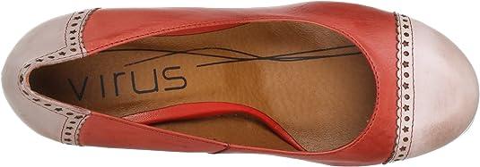 Virus Moda 930406 - Zapatos de tacón de Cuero para Mujer, Color Rojo, Talla 37: Amazon.es: Zapatos y complementos