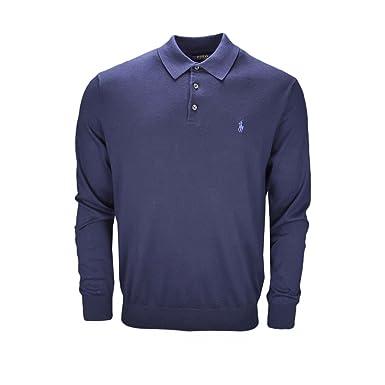 Ralph Lauren Pull col Polo Bleu Marine pour Homme  Amazon.fr  Vêtements et  accessoires 54424a0de1d