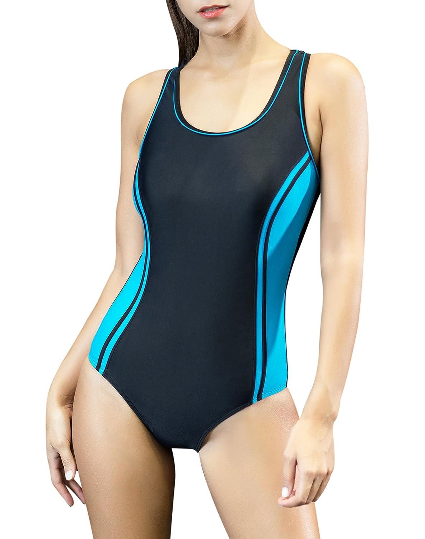 56dba462c76 Amazon.com: Uhnice Women's One Piece Swimsuits Racing Training Sports  Athletic Swimwear: Clothing