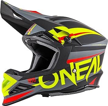 ONeal 8Series MX Helm Aggressor Blau Neon Grün Motocross Enduro Offroad Quad Cross, 0614-60, Größe XS (53/54cm): Amazon.es: Deportes y aire libre