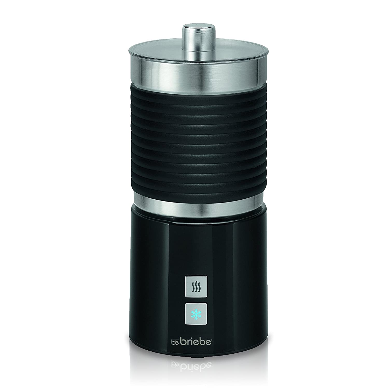 Briebe Latte - Batidora Espumador de leche eléctrico automático, 700 ml recipiente desmontable, función calentar, apagado automático, 600W, color negro: ...