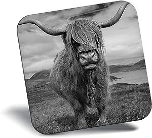 Destination Vinyl ltd Awesome Fridge Magnet - Scottish Highland Cows Scotland Cow 15728