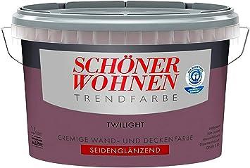 2 5 Liter Schoner Wohnen Farbe Trendfarbe Twilight Seidenglanzend Amazon De Baumarkt