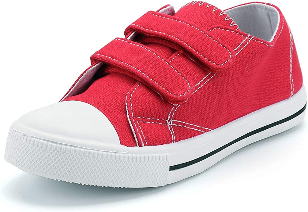 K KomForme Toddler Boys /& Girls Shoes Slip On Canvas Sneakers