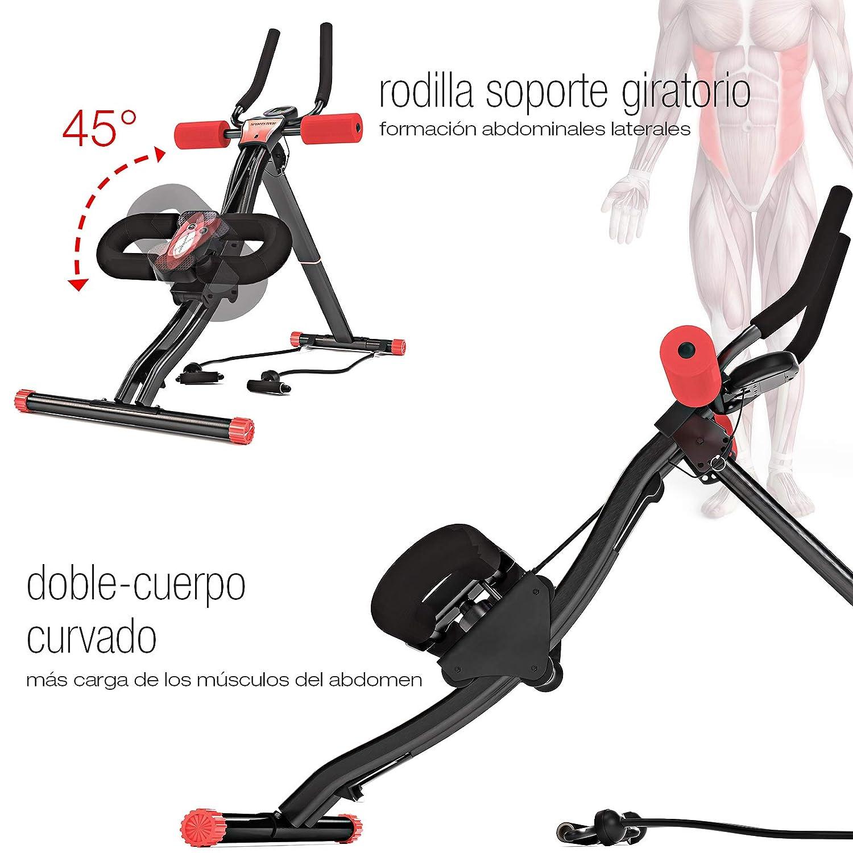 Sport STech – BT300 Unisex Profesional Entrenamiento Abdominal con Apoyo para Las Rodillas, para Abdominales, Sistema de Doble Carril, 25 de Altura ...