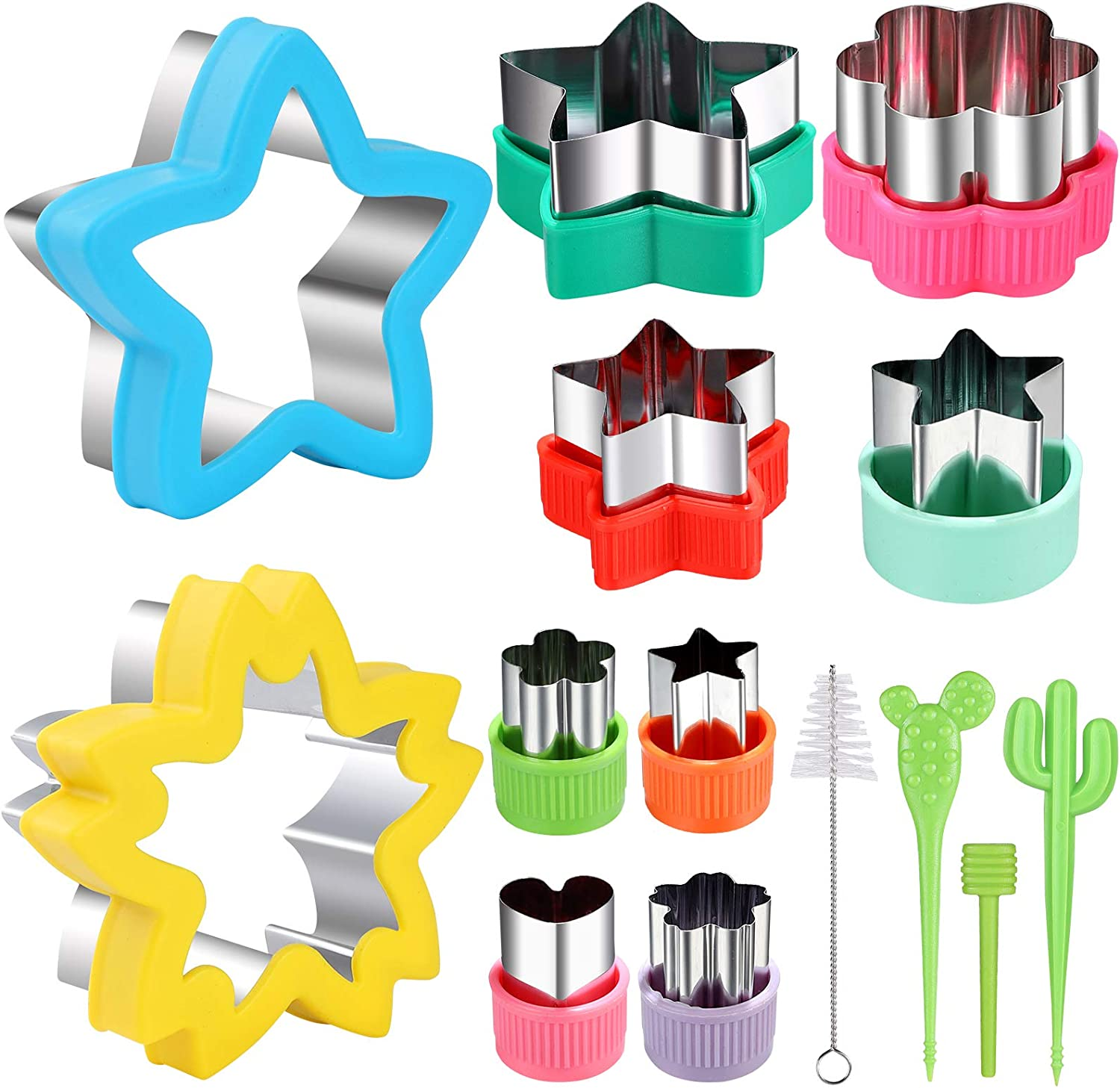 Star Cookie Cutter molds Set,Sandwiches,Mini Pie, Fruit and Cookie Stamps Mold, Cookie Cutter Decorative Food for Kids Baking and Food Supplement Tools Accessories Crafts for Kitchen