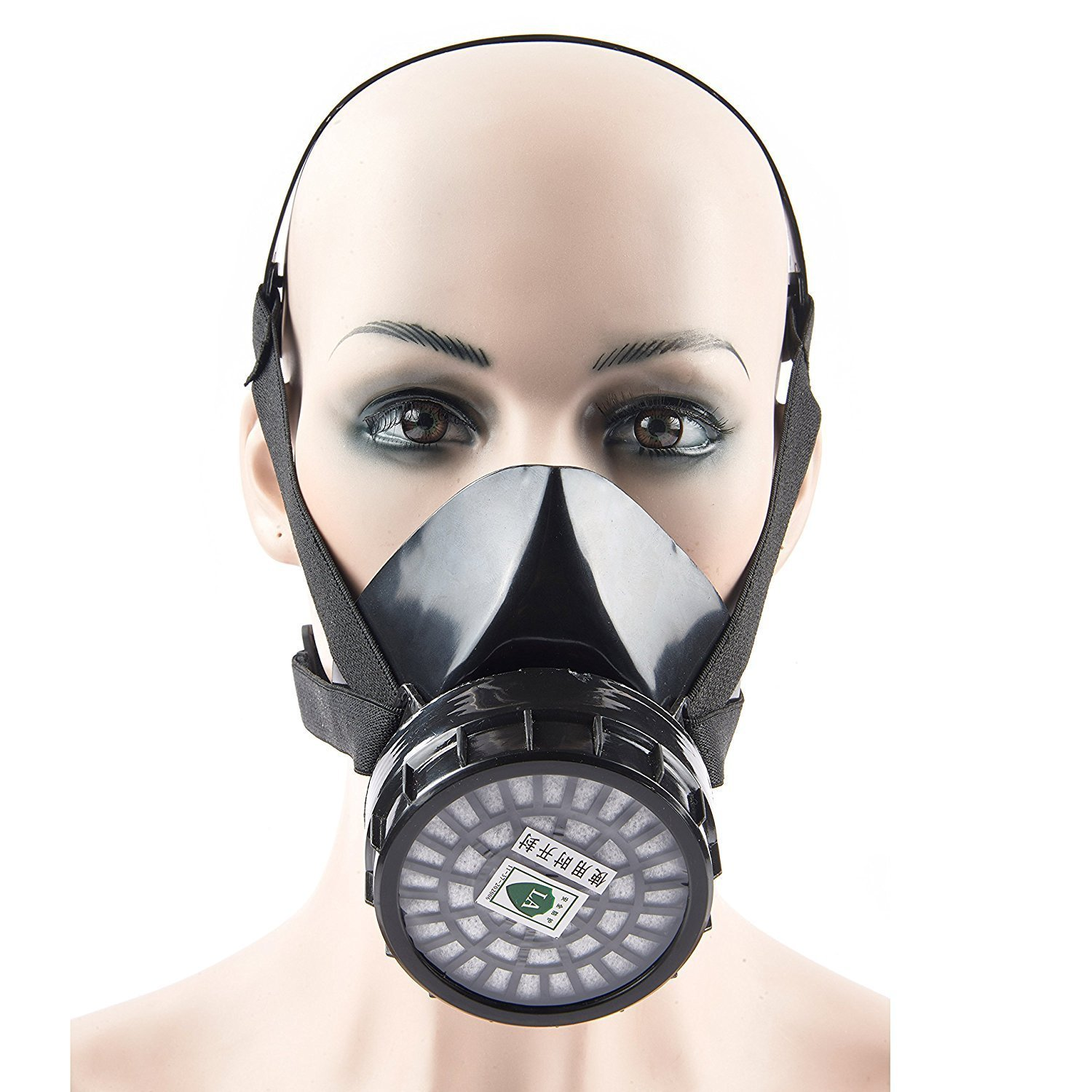 Mufly Reusable Respirator Industrial Gas Chemical Anti-Dust Paint and Pesticide Respirator Mask with Adjustable Straps