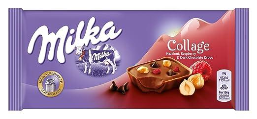 30 opinioni per Cioccolato di Nocciola di Lampone Collage Cioccolato con lampone e nocciola 93gr