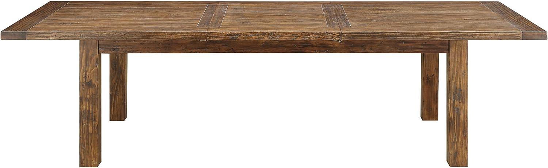 Emerald Home Furnishings Chambers Creek Dining Table, Rustic Pine