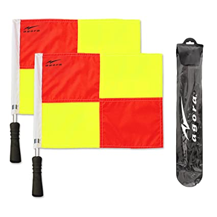 aef5ed35d Amazon.com   AGORA Pro Line Premium Soccer Referee Flags with Case   Sports  Corner Flags   Sports   Outdoors
