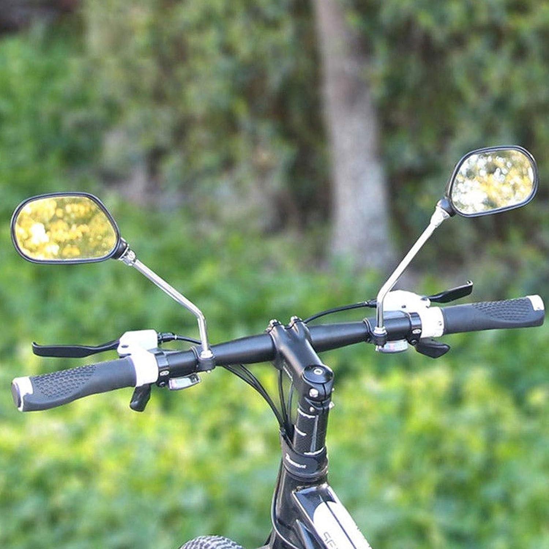 Bicycle Rearview Mirrors,Stainless Steel Lens,Mountain Bike Handlebar Mirror EEEKit Bike Mirror 1 Pair Safer Bicycle Mirror for Handlebars