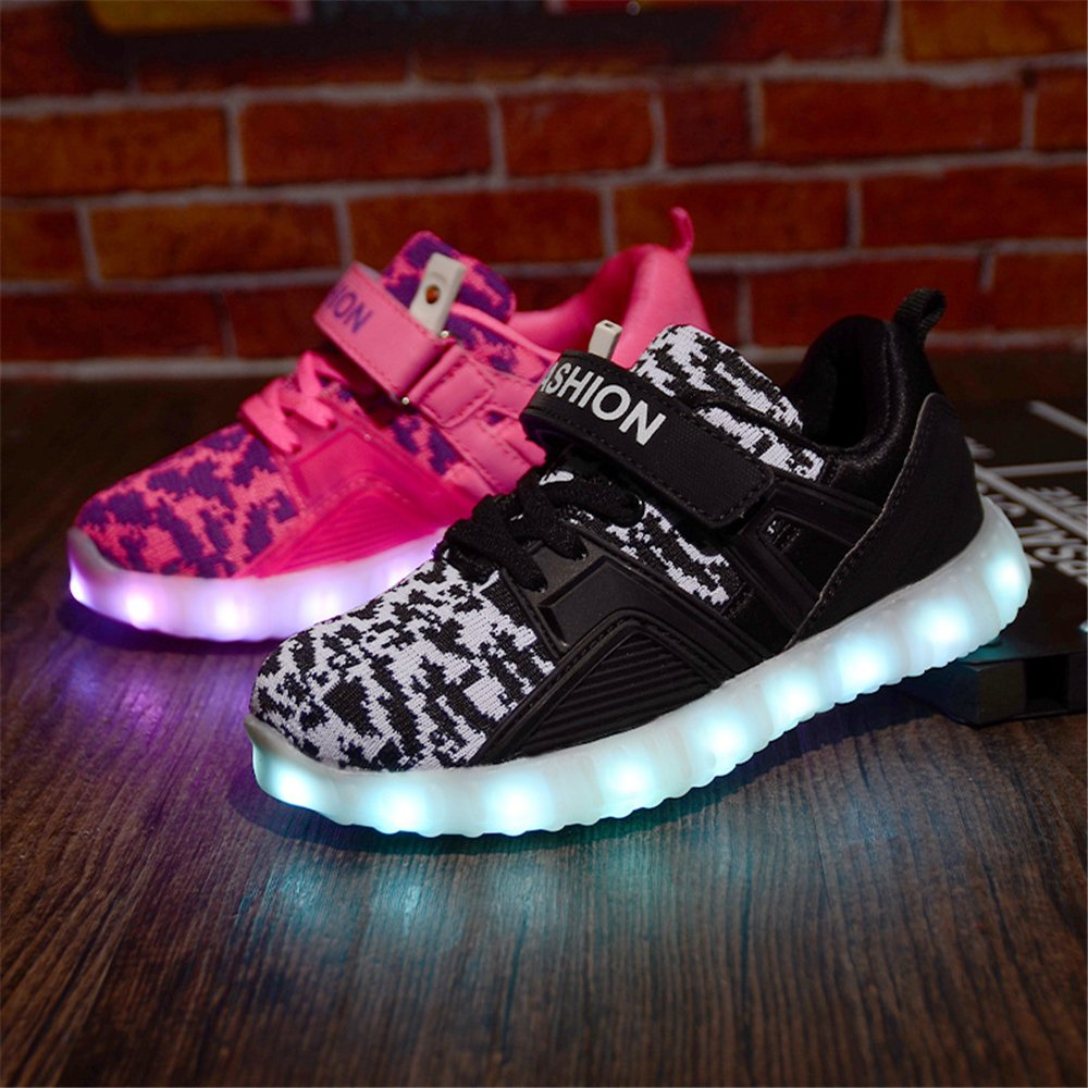 A2kmsmss5a USB Charging LED Light Up Shoes Flashing Sneaker for Kids Boys Girls Toddler,Litter Kid,Big Kid