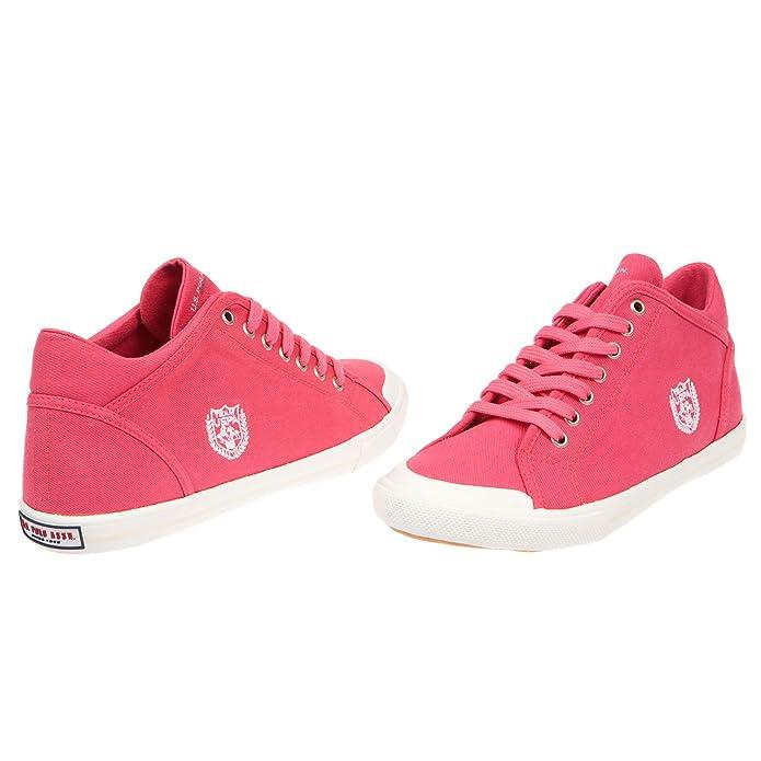 U.S. Polo Scarpe Basse Donna, Chiusura con Lacci, Stile Sneaker - MOD.  DYON4191S7-C1: Amazon.it: Scarpe e borse