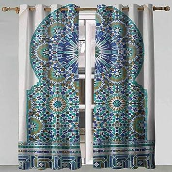 SONGDAYONE - Juego de 2 Paneles de decoración marroquí Extra Largos, para Pared, diseño de Azulejos de cerámica: Amazon.es: Hogar