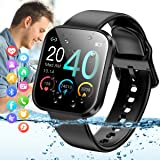 Amokeoo Smart Watch,Bluetooth Smartwatch Touch Screen Sports Activity Tracker Watch with Heart Rate Blood Pressure…