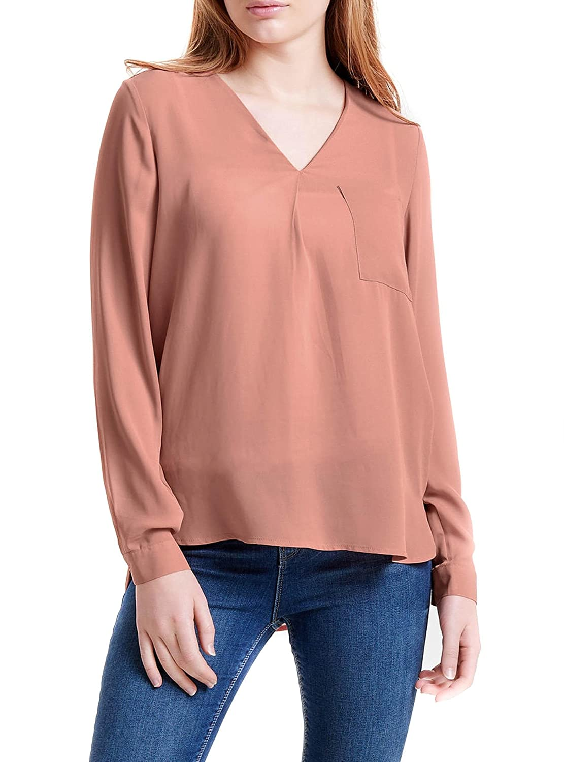 Only Stubailey L/S V-Neck Shirt Blusa para Mujer