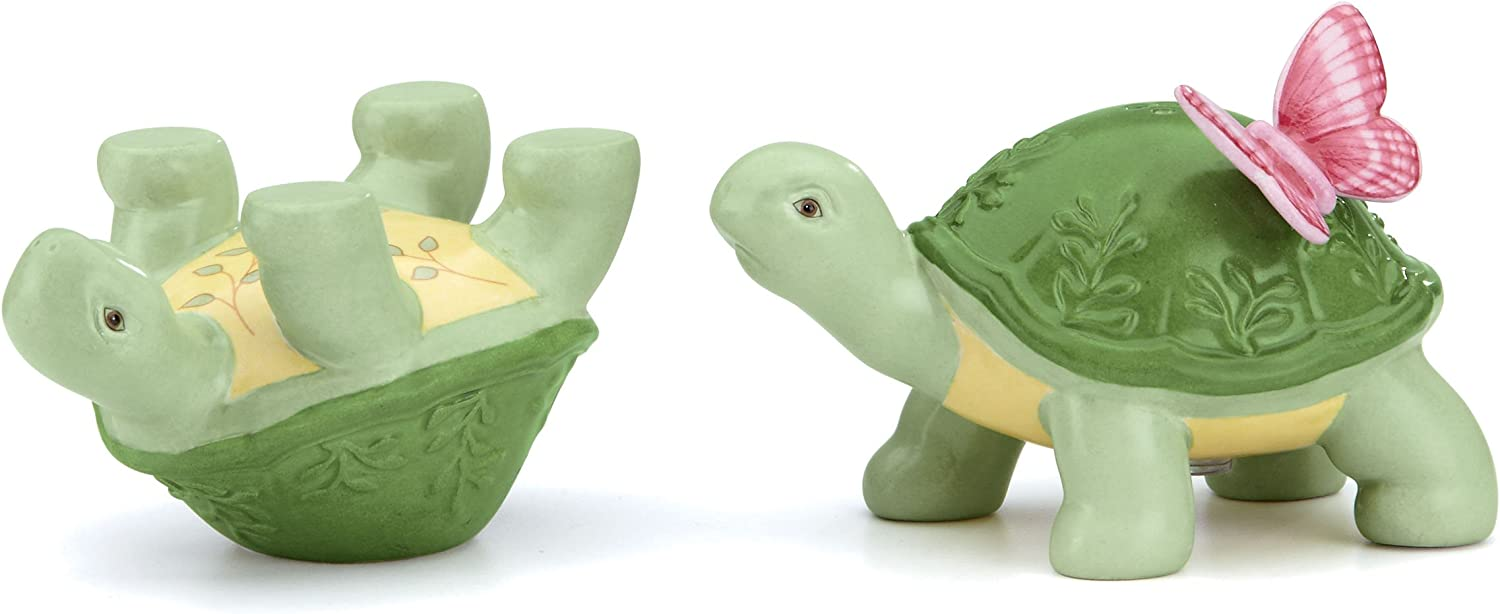 Lenox Butterfly Meadow Figural Turtle Salt And Pepper 0 5 Lb Multi Salt And Pepper Shaker Sets Kitchen Dining